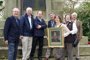(L to R) campaign coordinator Peter Stone, Don Mackenzie of the Lymington Society, Mark Tomlinson of St. Barbe Museum, Frank Green, National Park Authority Archaeologist, Mayor Anna Rostand, Georgina Craufurd of the Hampshire Gardens Trust and Ivor Johnston of the Lymington Society.