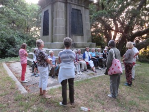 U3A members learn about the monument's history